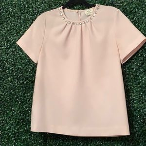 Kate Spade Light Pink Boxy Blouse